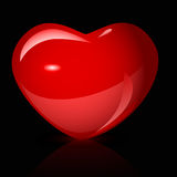 Bright red heart vector Royalty Free Stock Photography