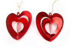 Bright red  hearts Royalty Free Stock Images
