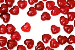 Bright red hearts Stock Image