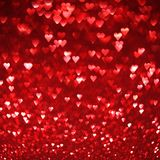 Bright red hearts abstract background Royalty Free Stock Photo