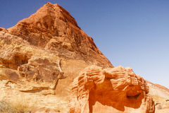 Bright Red Hill in Desert.jpg Royalty Free Stock Photo