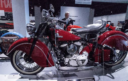 Bright red 1946 Indian Chief Stock Photo