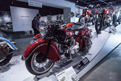 Bright red 1946 Indian Chief Royalty Free Stock Images