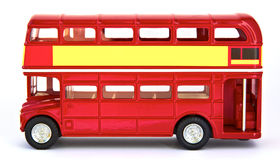 Bright red isolated english bus Royalty Free Stock Photo
