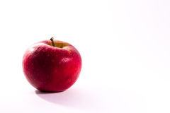 Bright Red Juicy Apple Fruit Fresh Diet Food Isolated White Back Stock Images