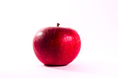 Bright Red Juicy Apple Fruit Fresh Diet Food Isolated White Back Royalty Free Stock Photos