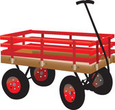 Bright red kid's hand truck Stock Image