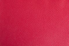Bright red leather background. Part of an old binder folder stock image