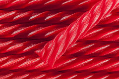 Bright Red Licorice Candy Royalty Free Stock Image