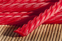 Bright Red Licorice Candy Stock Photos