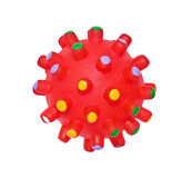 Bright red massage ball Stock Image