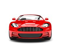 Free Bright Red Modern Sports Luxury Car - Front View Stock Images - 137530574
