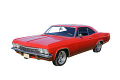 Bright red muscle car Stock Photos