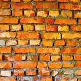 Bright red old wall from brick Royalty Free Stock Photos