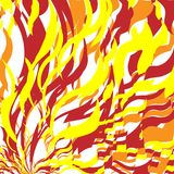 Fire Abstract Background. Bright Red and Orange Fire Abstract Background, Flame Pattern, Stylized Fire, Fire Sign Background, Sunlight Abstract Orange Wave stock illustration