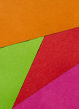 Bright red, orange, green pink paper texture background Stock Photography