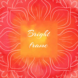 Bright Red-orange Square Frame Royalty Free Stock Photos