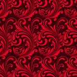Bright red ornamental seamless pattern Stock Images