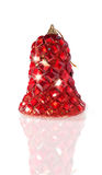 Bright Red Ornated Christmas Bell Royalty Free Stock Photography