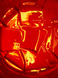 Bright red paint in the container Royalty Free Stock Photo