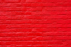 Free Bright Red Painted Brick Wall Royalty Free Stock Image - 15066846