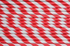 Bright red paper straw background Stock Image