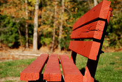 Free Bright Red Park Bench Stock Photography - 3621492