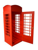 Bright red pay phone. Sight of London Stock Photo