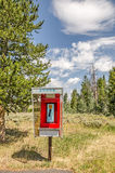 Bright Red Phone Booth Royalty Free Stock Image