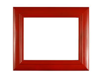 Bright Red Picture Frame With White Copy Space Royalty Free Stock Images