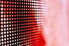 Bright red and pink LED smd screen 6mm. Close up background Royalty Free Stock Image