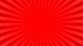 Bright red rays background. With 16 9 aspect ratio. Comics, pop art style. Vector, eps 10 Royalty Free Stock Image