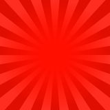 Bright red rays background. Comics, pop art style. Vector eps 10 Royalty Free Stock Photography
