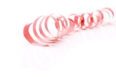 Bright red ribbon Royalty Free Stock Photography