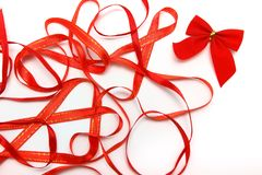 Bright red ribbons Royalty Free Stock Photos