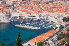 Dubrovnik Old Town and Harbour Royalty Free Stock Photos