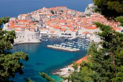 Dubrovnik old town. Bright red roofs of Unesco protected Dubrovnik Old town Croatia Royalty Free Stock Image