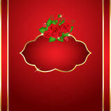 Bright red roses card Royalty Free Stock Images