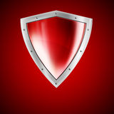 Bright red shield Royalty Free Stock Images