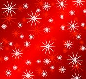 Bright Red Snowflake Patterns Stock Image