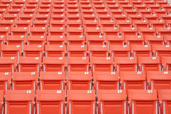 Bright red stadium seats Stock Image