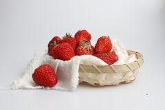 Bright red strawberry royalty free stock photos
