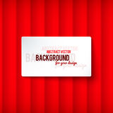 Bright red stripes background with label Stock Photos