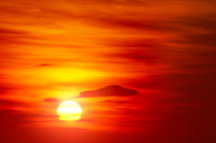 Bright red sunrise Royalty Free Stock Image