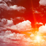 Bright red sunrise Royalty Free Stock Images