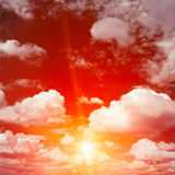 Bright red sunrise Royalty Free Stock Photos