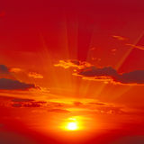 Bright red sunrise Stock Photo