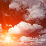 Bright red sunrise Stock Image