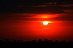 Bright red sunrise Royalty Free Stock Photography