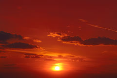 Bright red sunrise Stock Photography